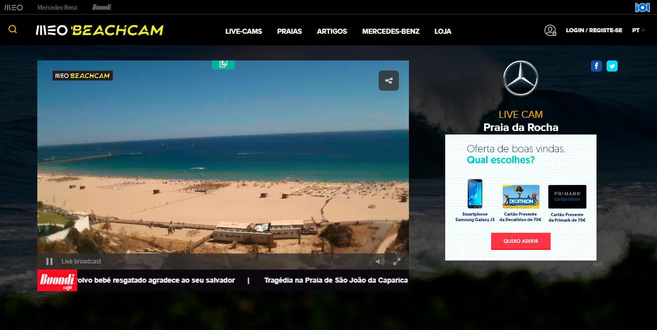 LiveCam MEO praias online grátis